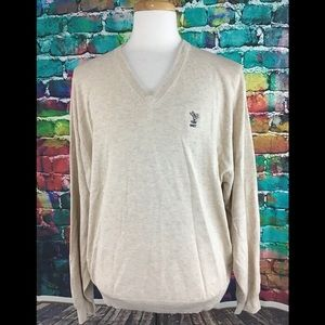 Peter Millar V Neck Sweater XXL Silk Cotton Cash